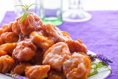 Pumpkin fritters with glasses Stock Photography