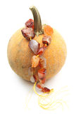 Pumpkin with genuine carnelian nugget beads Royalty Free Stock Photography