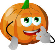 Pumpkin gesturing okay sign Royalty Free Stock Photography