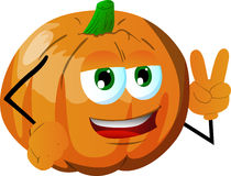 Pumpkin gesturing the peace sign Stock Image