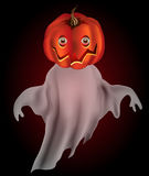 Pumpkin ghost. Pumpkin headed ghost with transparency Stock Image