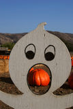 The Pumpkin and the Ghost Stock Images