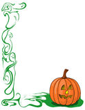 Pumpkin and ghost border royalty free stock images