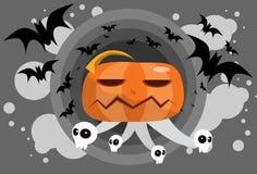 Pumpkin Ghost on Hallowen Stock Photos