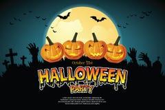Pumpkin Ghost and Ghost hand. Pumpkin Ghost and Ghost hand appeared on the full moon night. illustrator Vector vector illustration