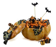 Pumpkin with gifts 2 Stock Photo