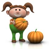 Pumpkin girl Stock Photo