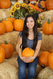 Pumpkin girl Royalty Free Stock Photos