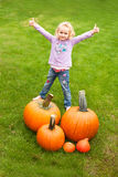 Pumpkin Girl collecting Stock Photos