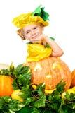 Pumpkin girl Stock Images