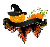 Pumpkin Glowing On Halloween Royalty Free Stock Images