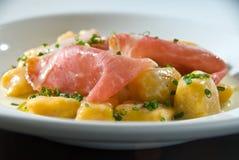 Pumpkin gnocchi Stock Image