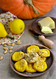 Pumpkin gnocchi Royalty Free Stock Images
