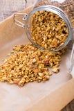 Pumpkin granola Homemade muesli. stock photography