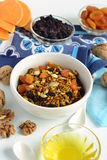 Pumpkin granola with walnuts and dried fruits Stock Images
