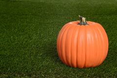 Pumpkin on grass Royalty Free Stock Photo