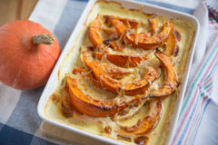 Pumpkin Gratin with cheese Royalty Free Stock Photography