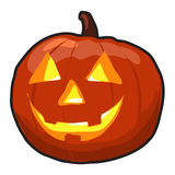 Pumpkin  with Grin. Vector illustration Stock Images