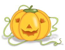 Pumpkin of Halloween Stock Image
