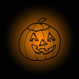 Pumpkin in halloween Stock Image