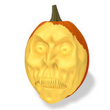 Pumpkin halloween. Halloween evil pumpkin on white background Royalty Free Stock Image