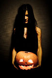 Pumpkin on Halloween Royalty Free Stock Images
