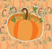 Pumpkin for Halloween. On pumpkin background Royalty Free Stock Photo