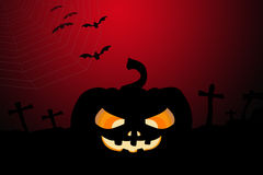 Pumpkin and Halloween background Royalty Free Stock Photography