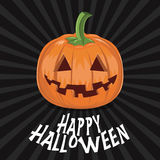 Pumpkin for Halloween on background vector Royalty Free Stock Images