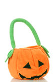 Pumpkin Halloween bag Stock Images