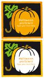 Pumpkin halloween banner card for invitation Royalty Free Stock Images