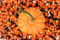 Pumpkin Halloween Candy Stock Image