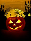 Pumpkin Halloween Card with hanged man. EPS 8 Royalty Free Stock Images