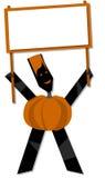 Pumpkin halloween cartoon Stock Image