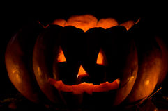 Pumpkin Halloween. Pumpkin cutted and illumined for Halloween Royalty Free Stock Photo