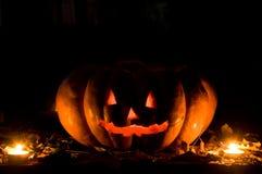 Pumpkin Halloween. Pumpkin cutted and illumined for Halloween Royalty Free Stock Photos