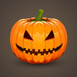 Pumpkin for Halloween on dark background Royalty Free Stock Image