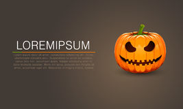 Pumpkin for Halloween dark banner Royalty Free Stock Images