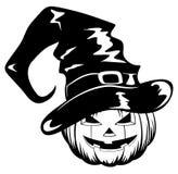 Pumpkin in halloween hat Royalty Free Stock Image
