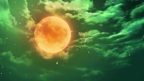 Pumpkin Halloween moon. Pumpkin orange color of the Halloween moon stock video