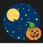 Pumpkin in halloween night Royalty Free Stock Photography