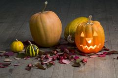 Pumpkin on a Halloween party Royalty Free Stock Photos