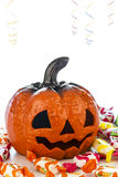 Pumpkin in halloween party Royalty Free Stock Photography