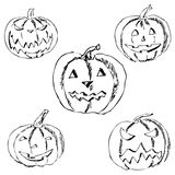 Pumpkin for Halloween. Pencil drawing by hand Stock Photo