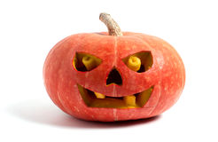 Pumpkin with halloween phrases Royalty Free Stock Image