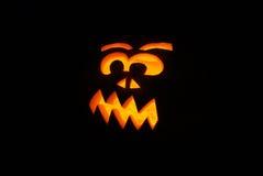 Pumpkin. Halloween pumkin glowing at night stock photo