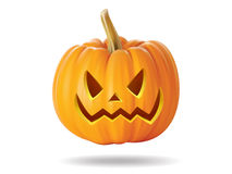 Pumpkin. Halloween pumpkin with scary face on  white Stock Photography