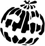 Pumpkin Halloween Stencil Stock Image