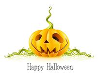 Pumpkin for halloween on white background Royalty Free Stock Images