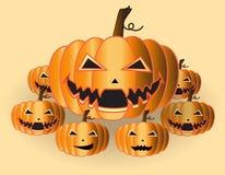 Pumpkin. Halloween pumpkin on a yellow background Stock Photos